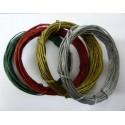 """Set de alambre de papel """"Christmas Pack"""" 4 colores x 5 metros cada uno. Colores: verde oscuro, rojo, oro y plata"""