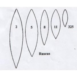 Ruscus - set de 5 2/5/8/11/325 (65mm, 50mm, 40mm, 30mm, 20mm) - TinkerTech Two Cutters