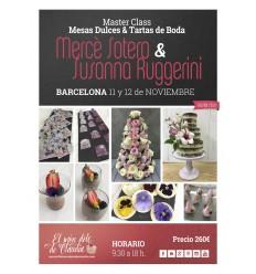 1er pago Master Class Mesas Dulces y Tartas de Boda 11 y 12/11 con Mercè Sotero y Susanna Ruggerini