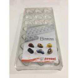 Molde de policarbonato para bombones media bola