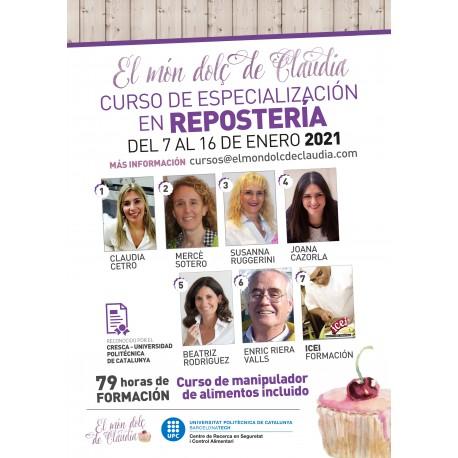 Curso de especialización en repostería intensivo
