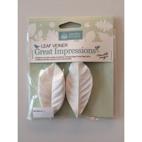 Gardenia (set of 2) Leaf Veiner Great Impressions Squires Kitchen