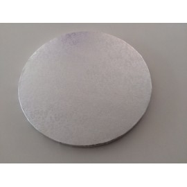 Round cake drum 25 cm x 1 cm height (silver colour)