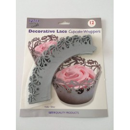 Decorative Lace Cupcake Wrappers Holly Gold