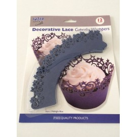 Decorative Lace Cupcake Wrappers Roses White