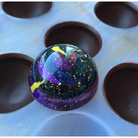Molde de policarbonato para bombones esfera Chocolate World