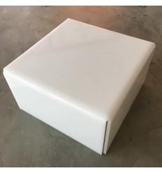 Stand de metacrilato blanco 25 cm x 12 cm alto