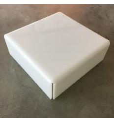 Stand de metacrilato blanco 25 cm x 8 cm alto