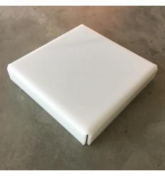 Stand de metacrilato blanco 25 cm x 4 cm alto