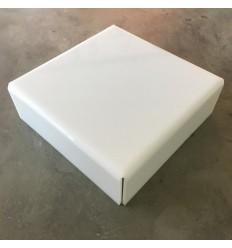 Stand de metacrilato blanco 22 cm x 8 cm alto