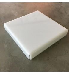 Stand de metacrilato blanco 22 cm x 4 cm alto