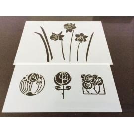 Set de 2 stencils (28 x 14 cm & 30 x 21 cm)