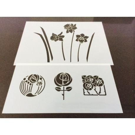 Stencils set of 2 (28 x 14 cm & 30 x 21 cm)