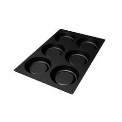 SQ031 6 Tart Silicone Mould - Silikomart