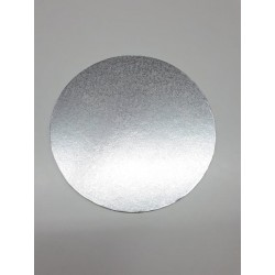 Base redonda 20 cm x 4 mm grosor (plateada)