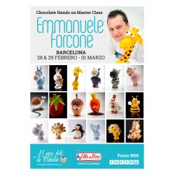 1er pago Hands on Chocolate Master Class de 3 días 28/02, 29/02 y 01/03/20 con Emmanuele Forcone