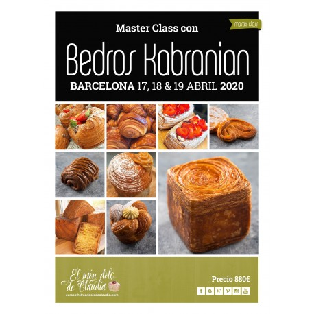 1st payment 3 days Hands on Master Class 25, 26 & 27/10/19 with Bedros Kabranian